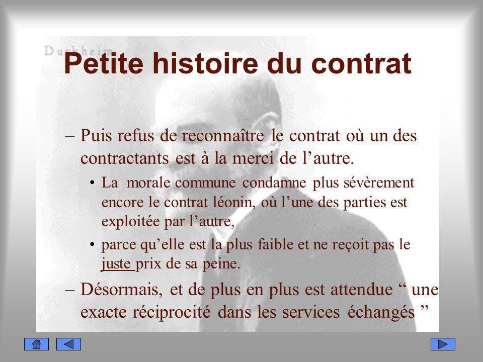 Petite histoire du contrat