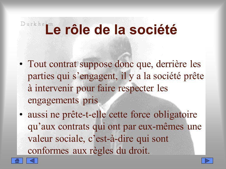 Le rôle de la société