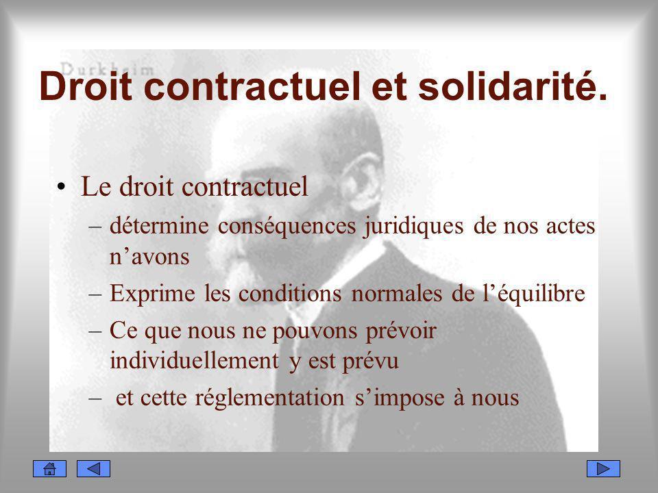 Droit contractuel et solidarité.