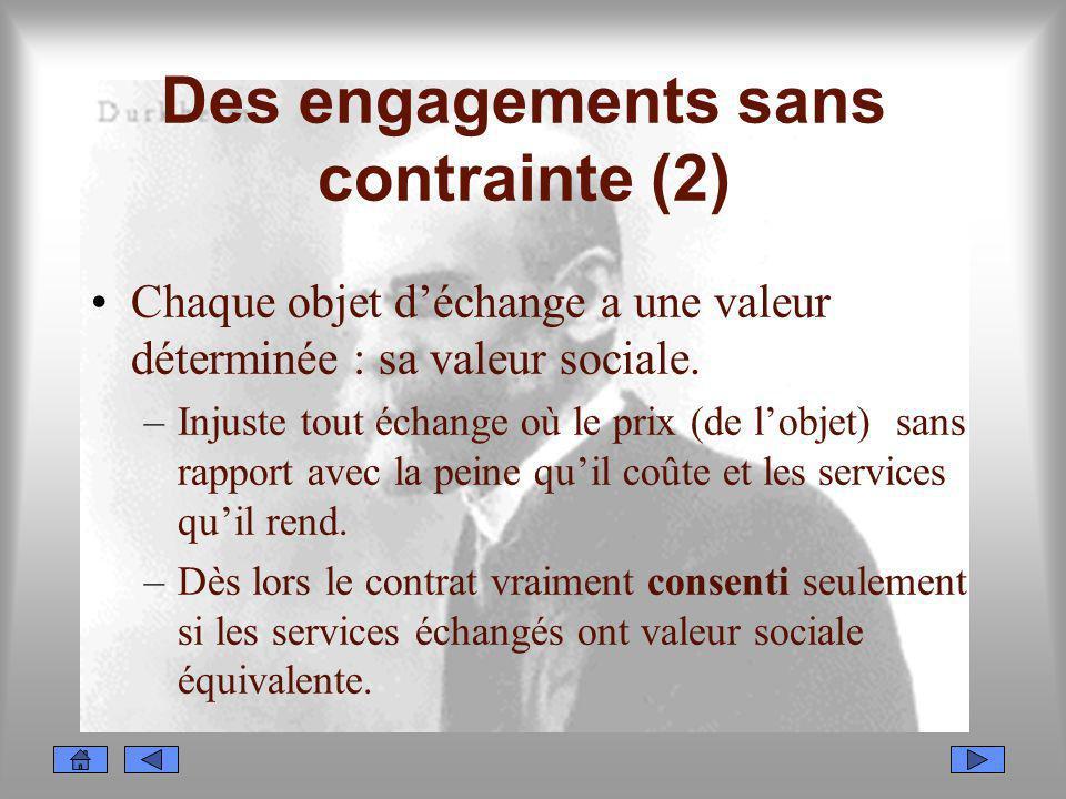 Des engagements sans contrainte (2)