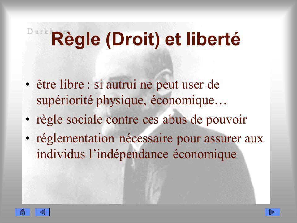 Règle (Droit) et liberté