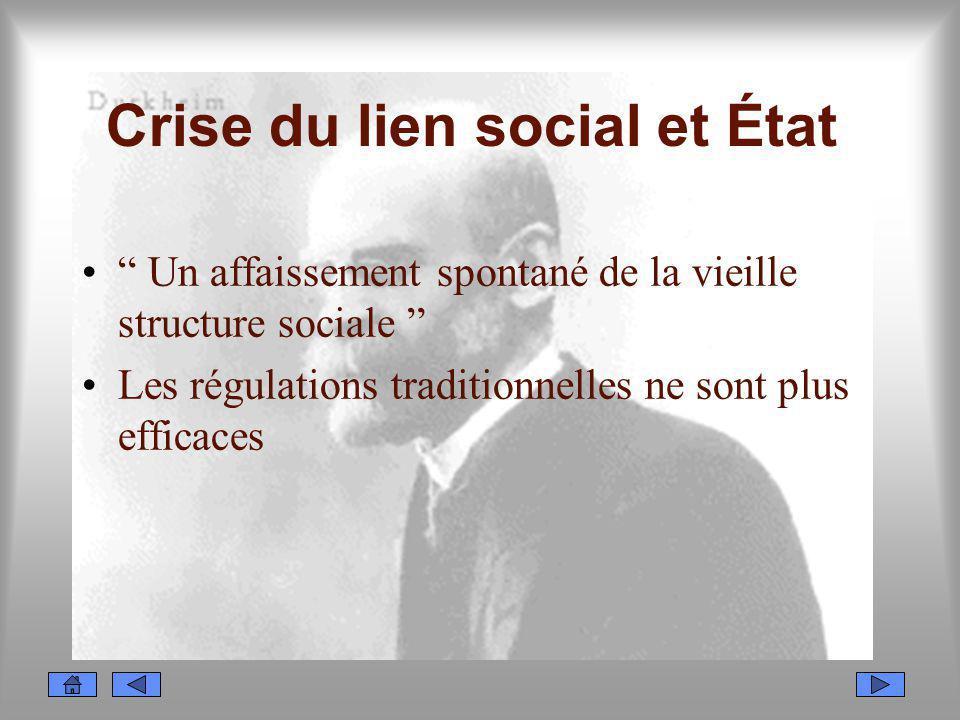 Crise du lien social et État