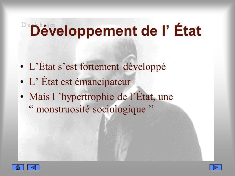 Développement de l' État