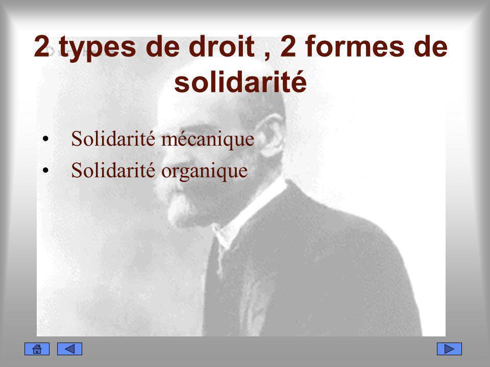 2 types de droit , 2 formes de solidarité