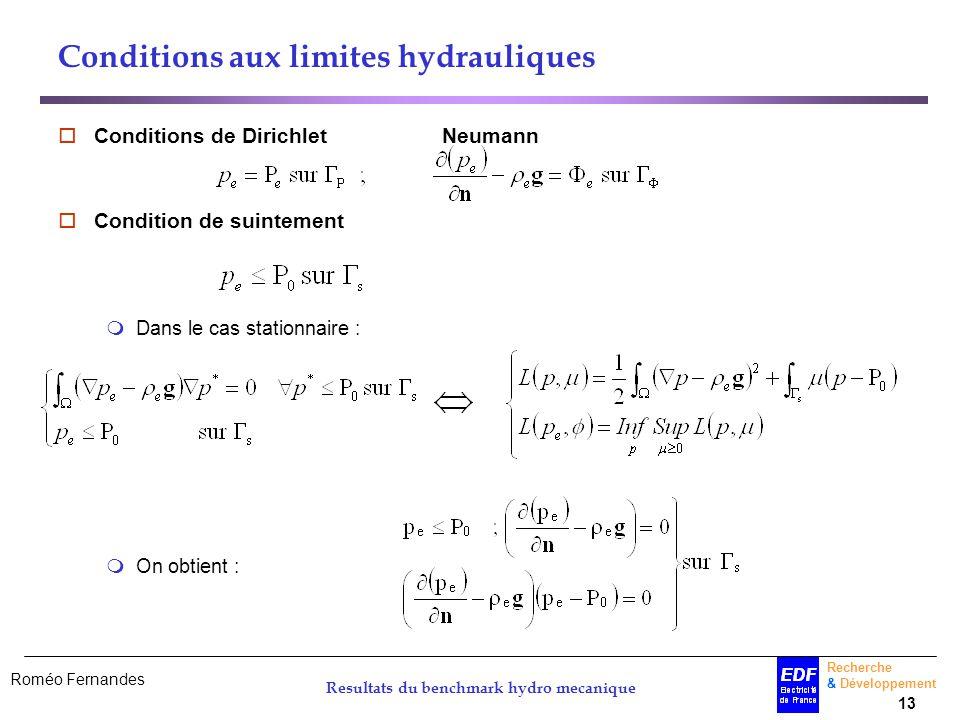 Conditions aux limites hydrauliques