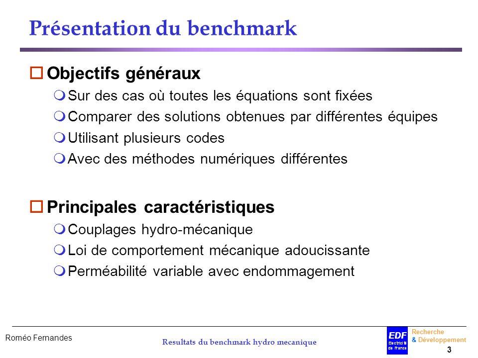 Présentation du benchmark