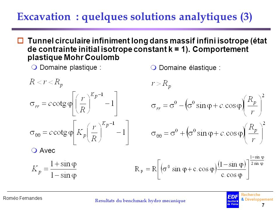 Excavation : quelques solutions analytiques (3)