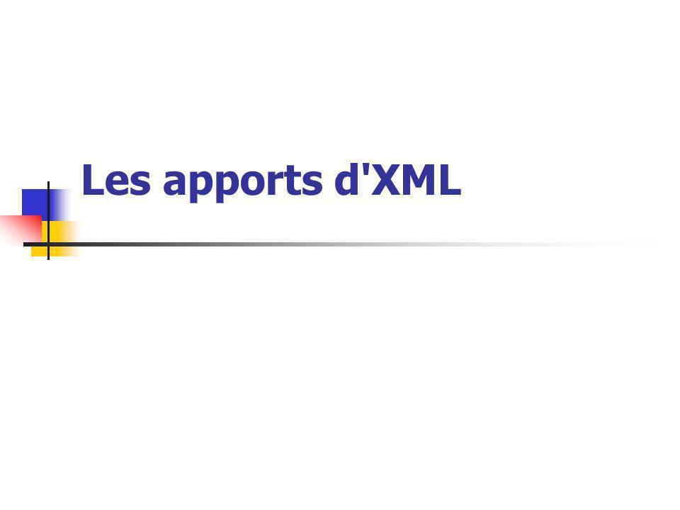 Les apports d XML
