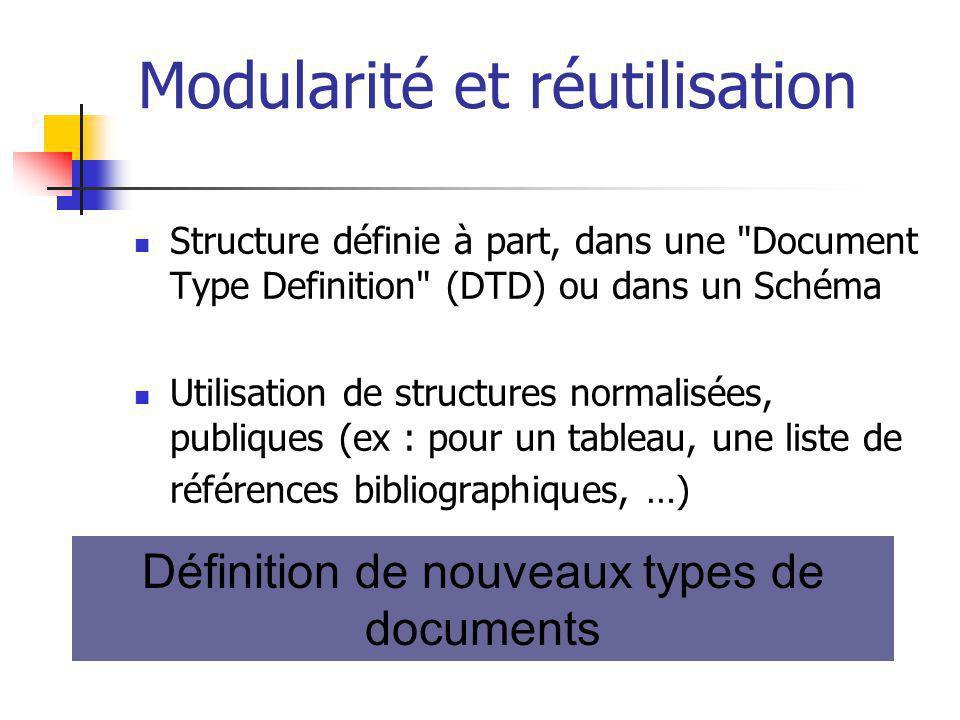 Modularité et réutilisation