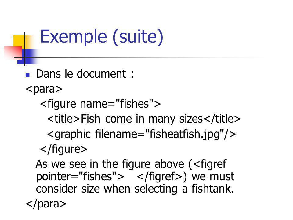 Exemple (suite) Dans le document : <para>