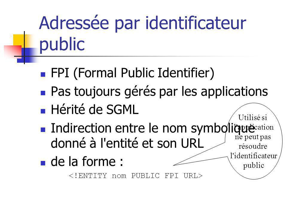 Adressée par identificateur public