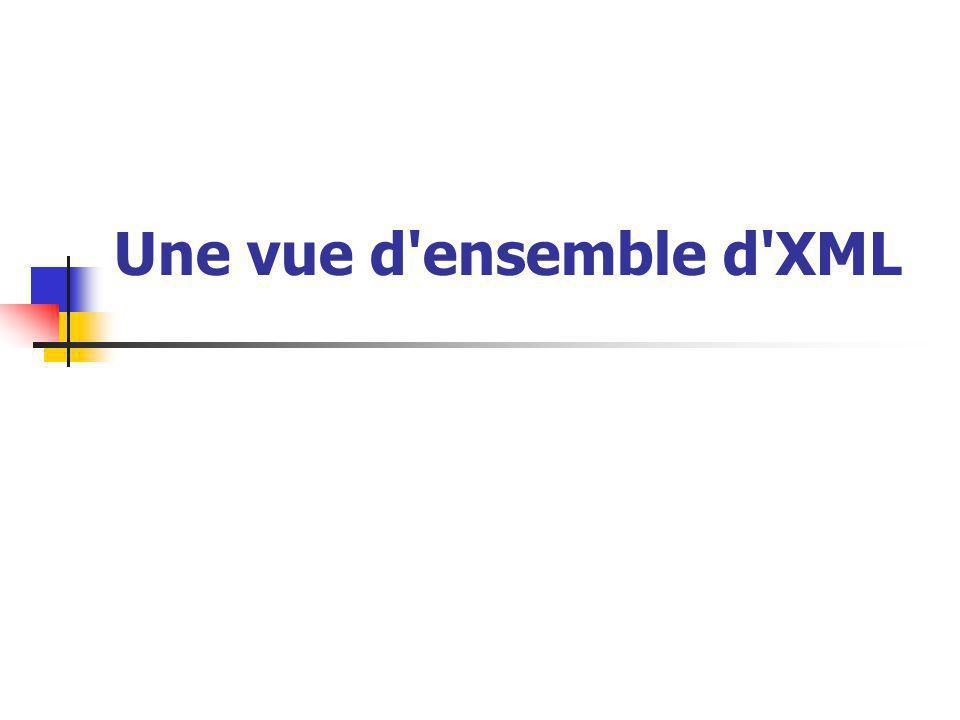 Une vue d ensemble d XML