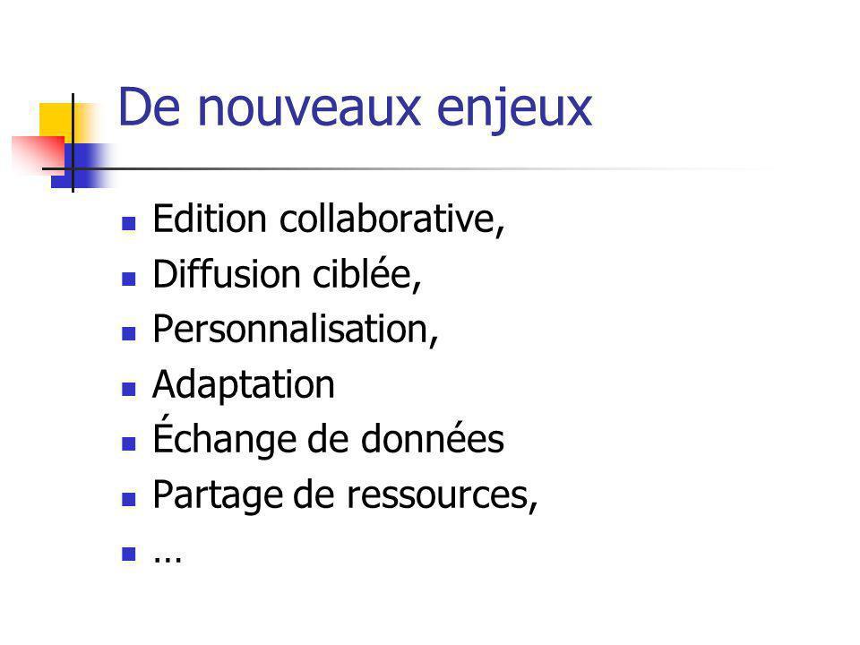 De nouveaux enjeux Edition collaborative, Diffusion ciblée,