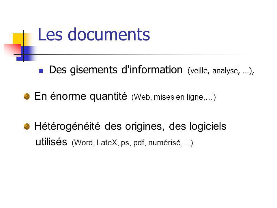 Les documents Des gisements d information (veille, analyse, …),