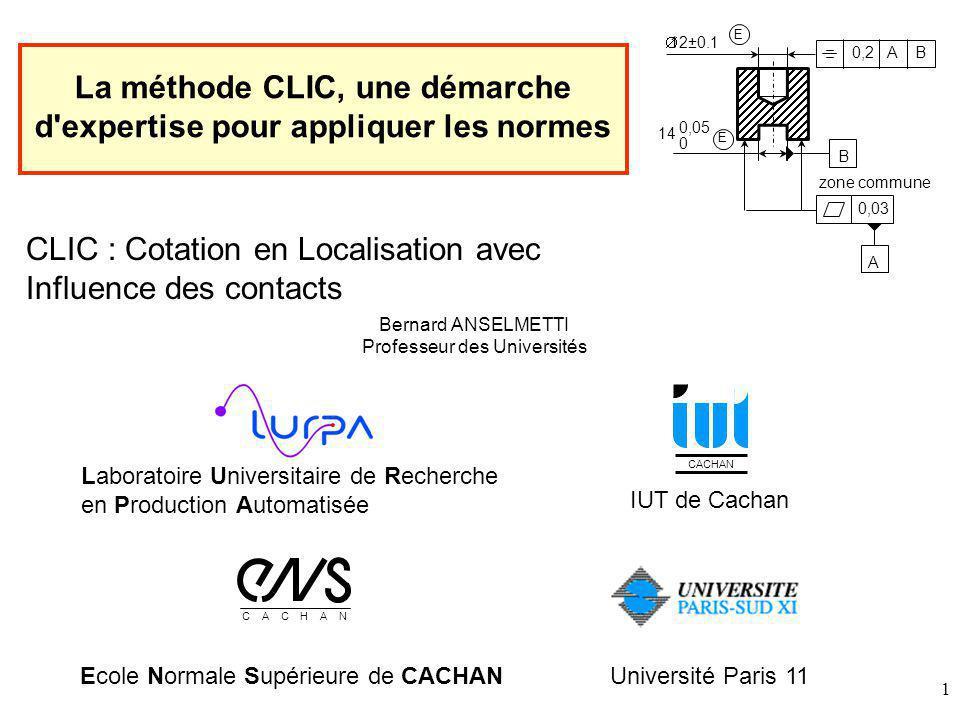 La méthode CLIC, une démarche d expertise pour appliquer les normes