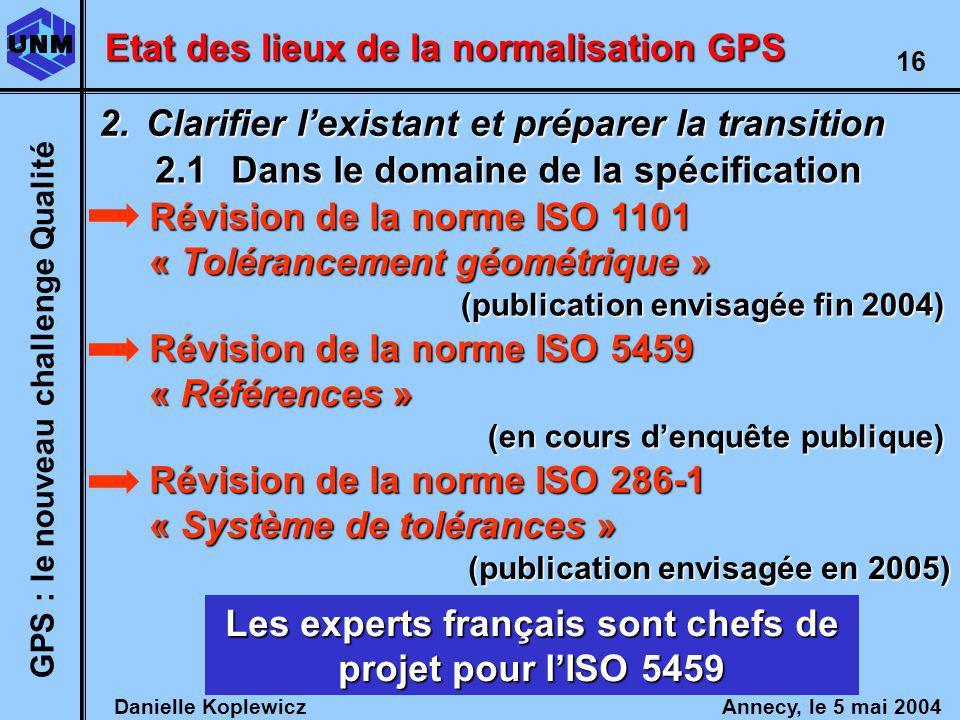 Les experts français sont chefs de projet pour l'ISO 5459