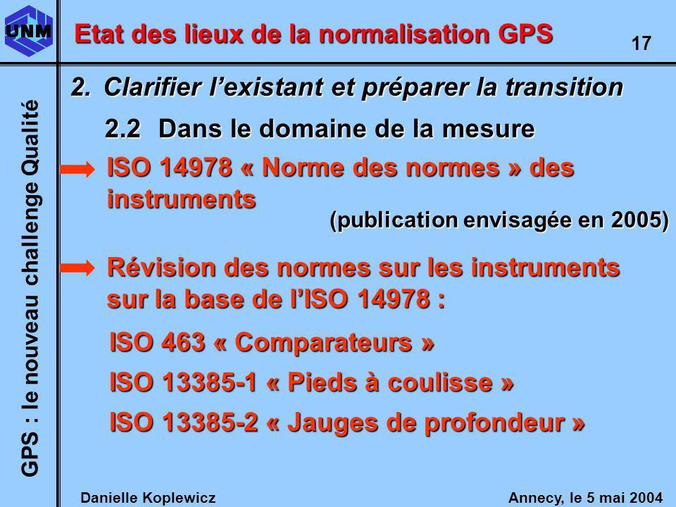 (publication envisagée en 2005) GPS : le nouveau challenge Qualité