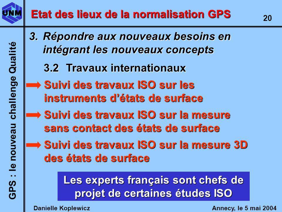 Les experts français sont chefs de projet de certaines études ISO