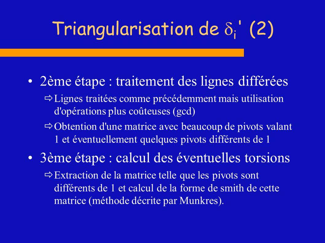 Triangularisation de di (2)