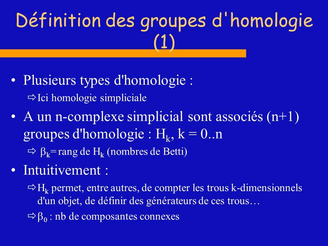 Définition des groupes d homologie (1)