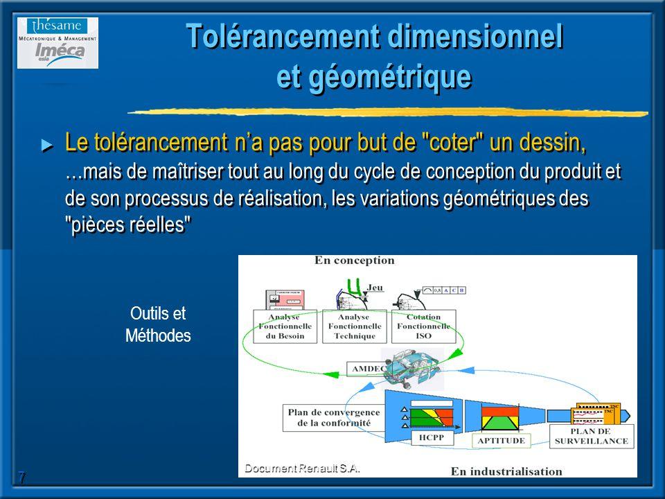 Tolérancement dimensionnel et géométrique