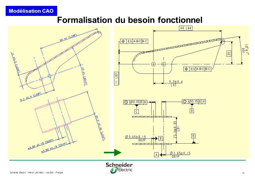 Formalisation du besoin fonctionnel