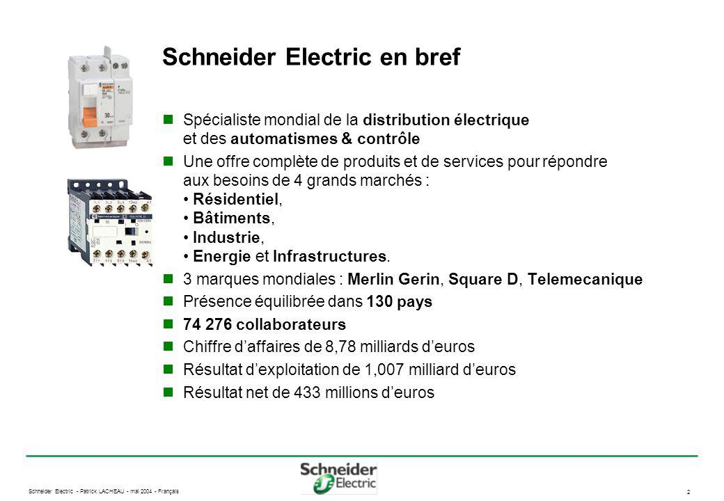 Schneider Electric en bref