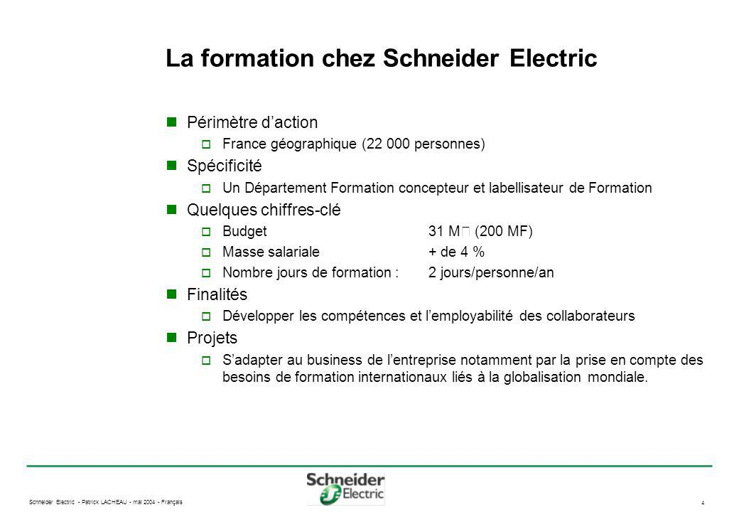La formation chez Schneider Electric