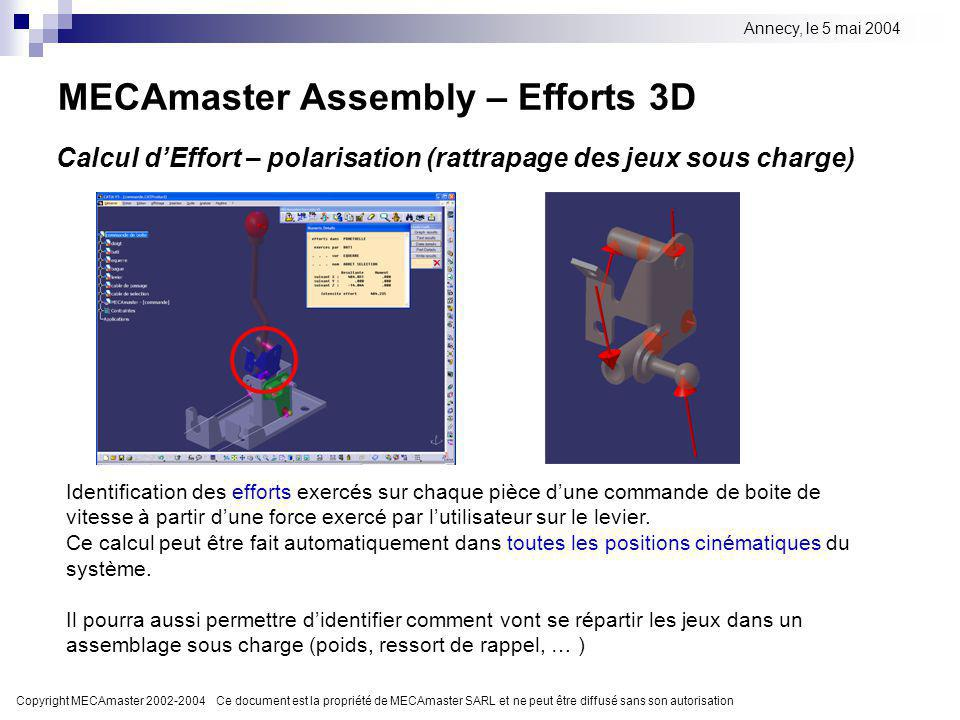 MECAmaster Assembly – Efforts 3D