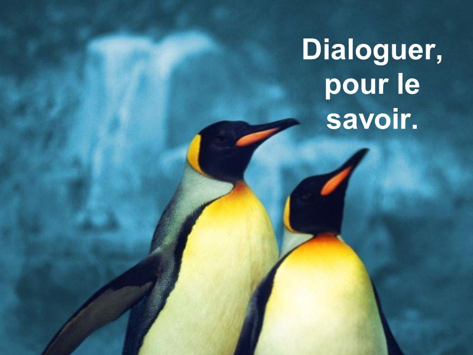 Dialoguer, pour le savoir.