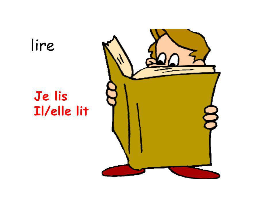 lire Je lis Il/elle lit