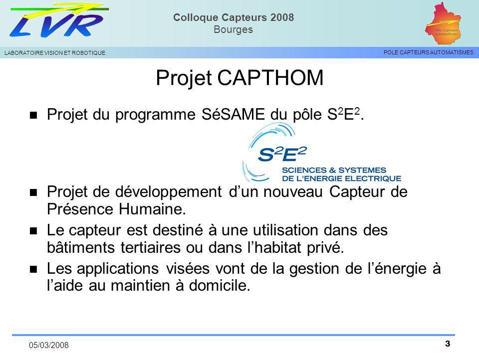 Projet CAPTHOM Projet du programme SéSAME du pôle S2E2.