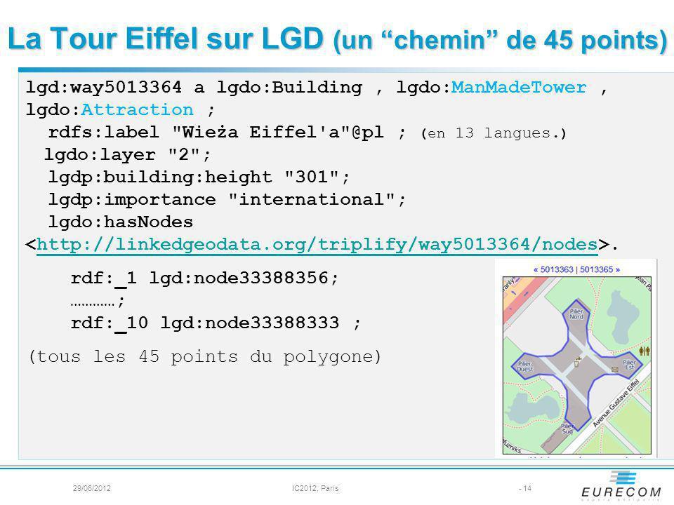 La Tour Eiffel sur LGD (un chemin de 45 points)