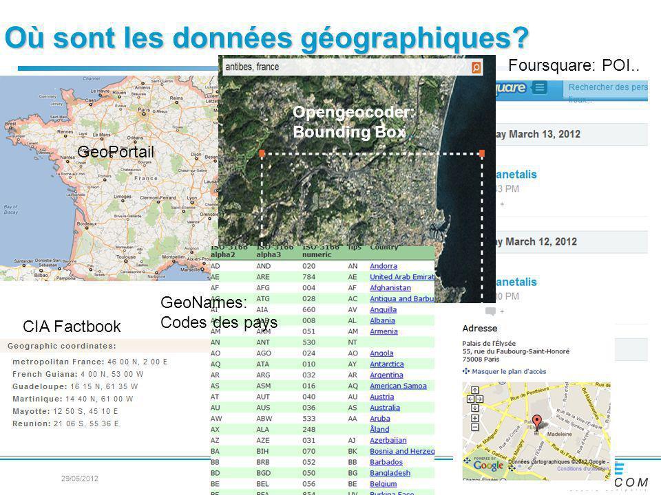 Où sont les données géographiques