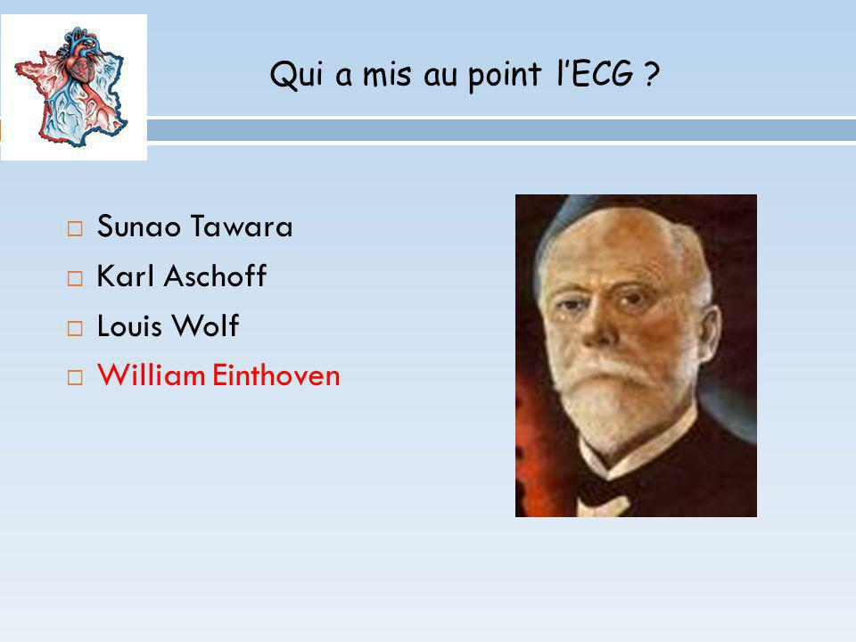 Sunao Tawara Karl Aschoff Louis Wolf William Einthoven