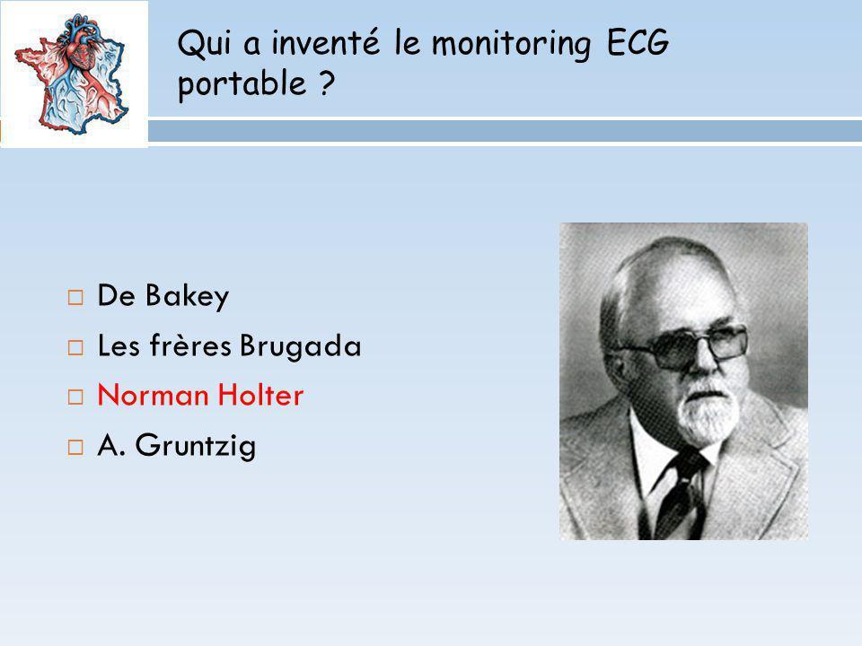 Qui a inventé le monitoring ECG portable