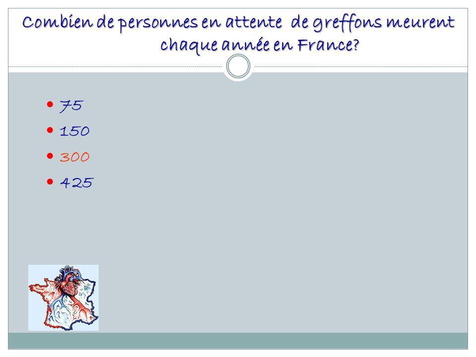 Combien de personnes en attente de greffons meurent chaque année en France
