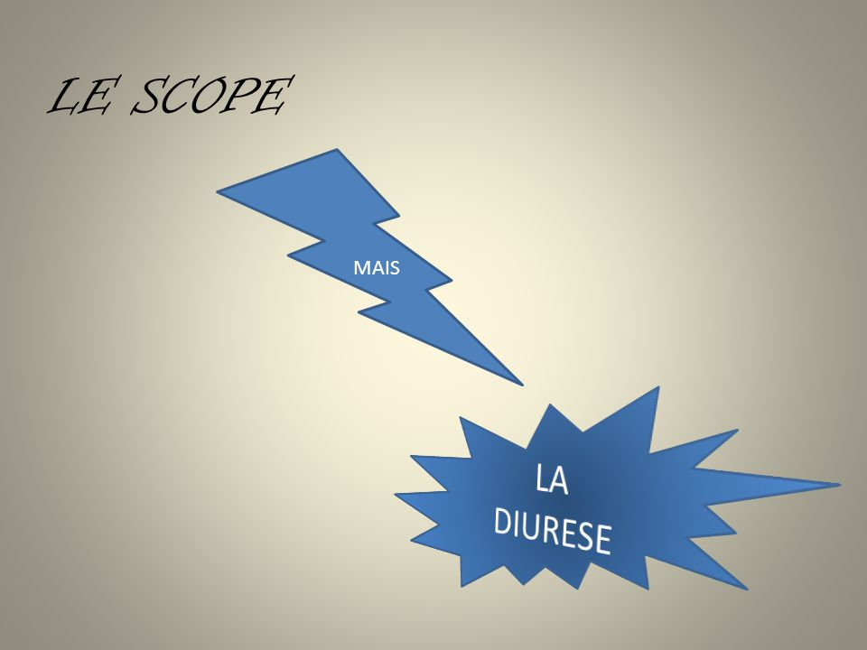 LE SCOPE MAIS LA DIURESE