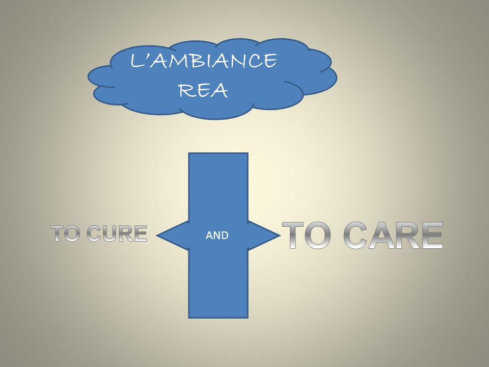 L'AMBIANCE REA AND TO CARE TO CURE