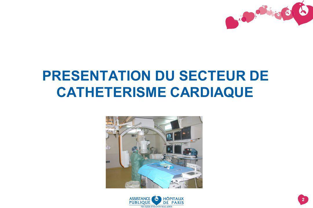 PRESENTATION DU SECTEUR DE CATHETERISME CARDIAQUE