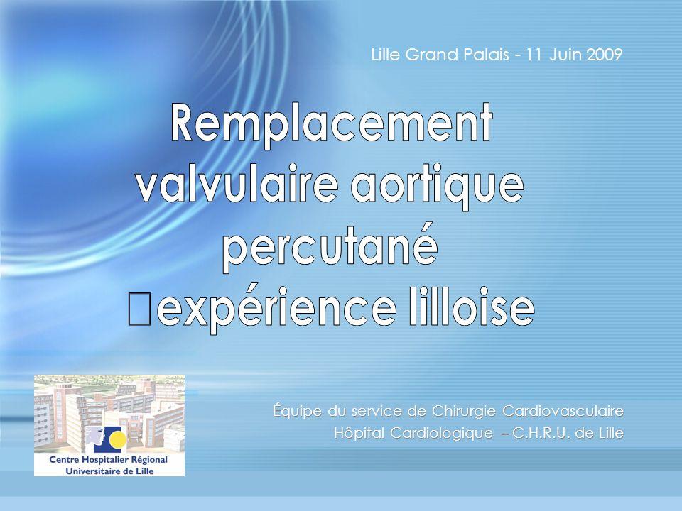 Remplacement valvulaire aortique percutané expérience lilloise