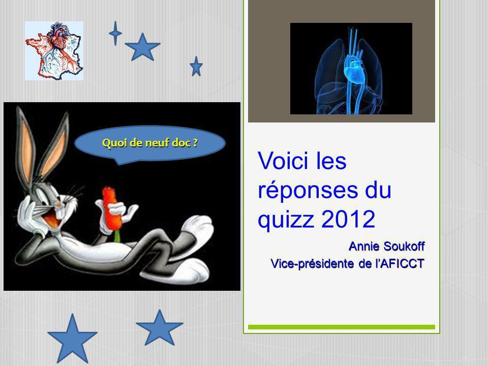 Voici les réponses du quizz 2012