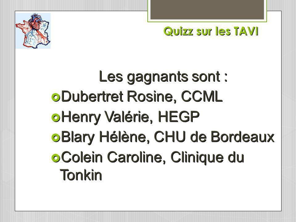 Blary Hélène, CHU de Bordeaux Colein Caroline, Clinique du Tonkin