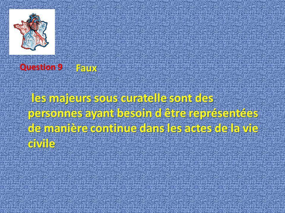 Question 9 Faux.