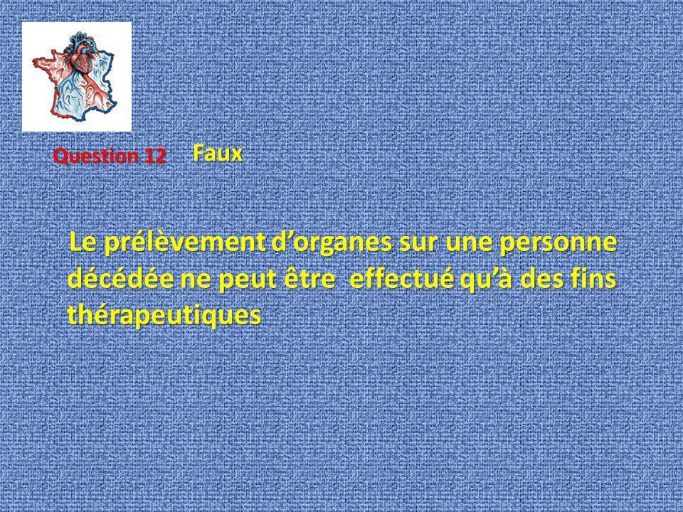 Faux Question 12.
