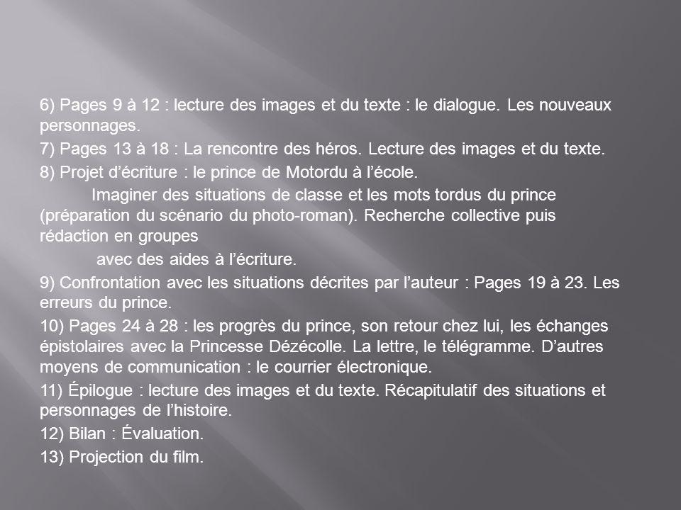 6) Pages 9 à 12 : lecture des images et du texte : le dialogue