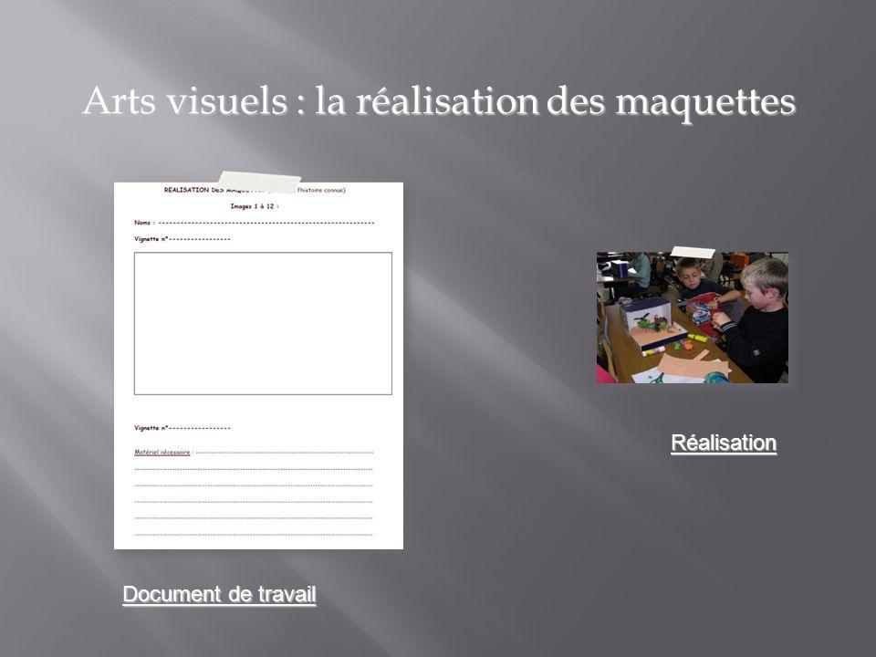 Arts visuels : la réalisation des maquettes
