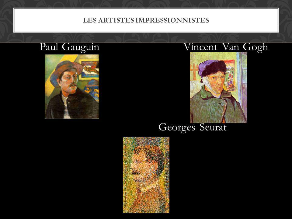 Les artistes impressionnistes