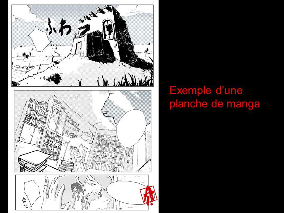 Exemple d'une planche de manga