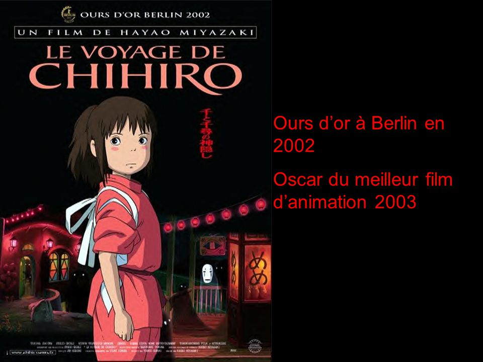 Ours d'or à Berlin en 2002 Oscar du meilleur film d'animation 2003